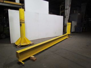 Dresser 1000 Lb Standing Jib Crane 1000 Lb Cap 20 ' Span 8 ' Under Beam photo