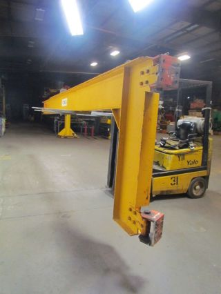 Beacon 1 Ton 20 ' Wall Mount Cantilever Jib Crane 5 - 5/8