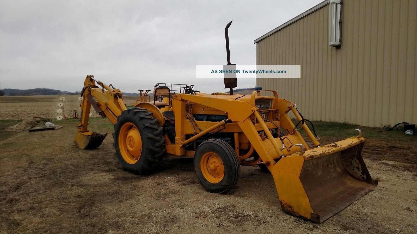 Ford 4500 Industrial Tractor Backhoe : Ford loader backhoe tractor