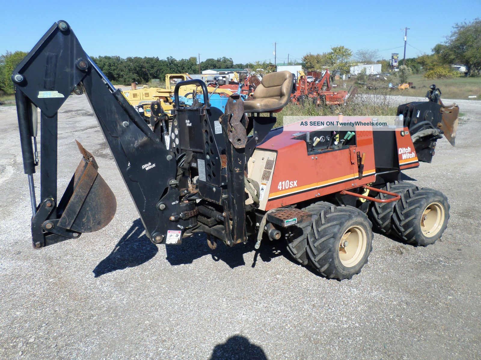 04 Ditch Witch 410sx Cable Plow With Backhoe Low Hrs