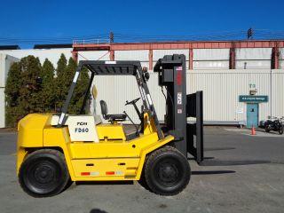 Tcm Fd60 13,  500 Lbs Pneumatic Forklift Truck - Triple Mast - - Diesel photo
