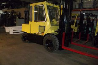 Hyster H 80 Solid Pneumatic Forklift Triple Mast Gasoline Gas photo