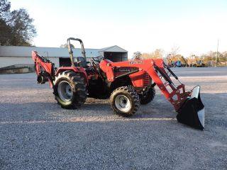 2014 Mahindra 4025 4x4 Tractor/backhoe - 40 Horsepower - photo
