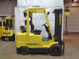 1999 Hyster S65xm 6500lb Smooth Cushion Forklift Lpg Lift Truck Hi Lo photo