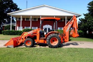 2008 Kubota M59 4x4 Tractor Loader Backhoe,  Front Aux Hyd,  Priced To Sell photo