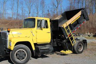 Commercial Snow Plow / Salt/cinder Spreader Dump Truck,  Snow Removal photo
