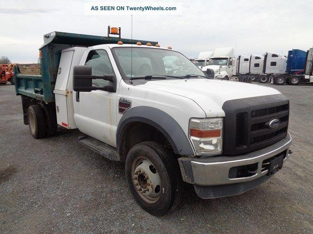 2008 ford f550 dump truck 6 4l powerstroke turbo diesel. Black Bedroom Furniture Sets. Home Design Ideas