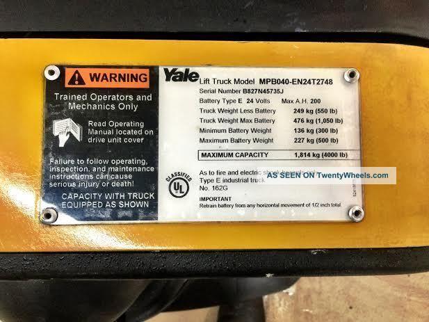 yale mpb040 pallet jack wiring diagram yale pallet jack