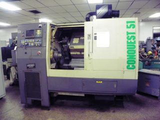 Hardinge Conquest T51 Cnc Lathe Turning Center,  Fanuc Control,  Lns Barfeed photo