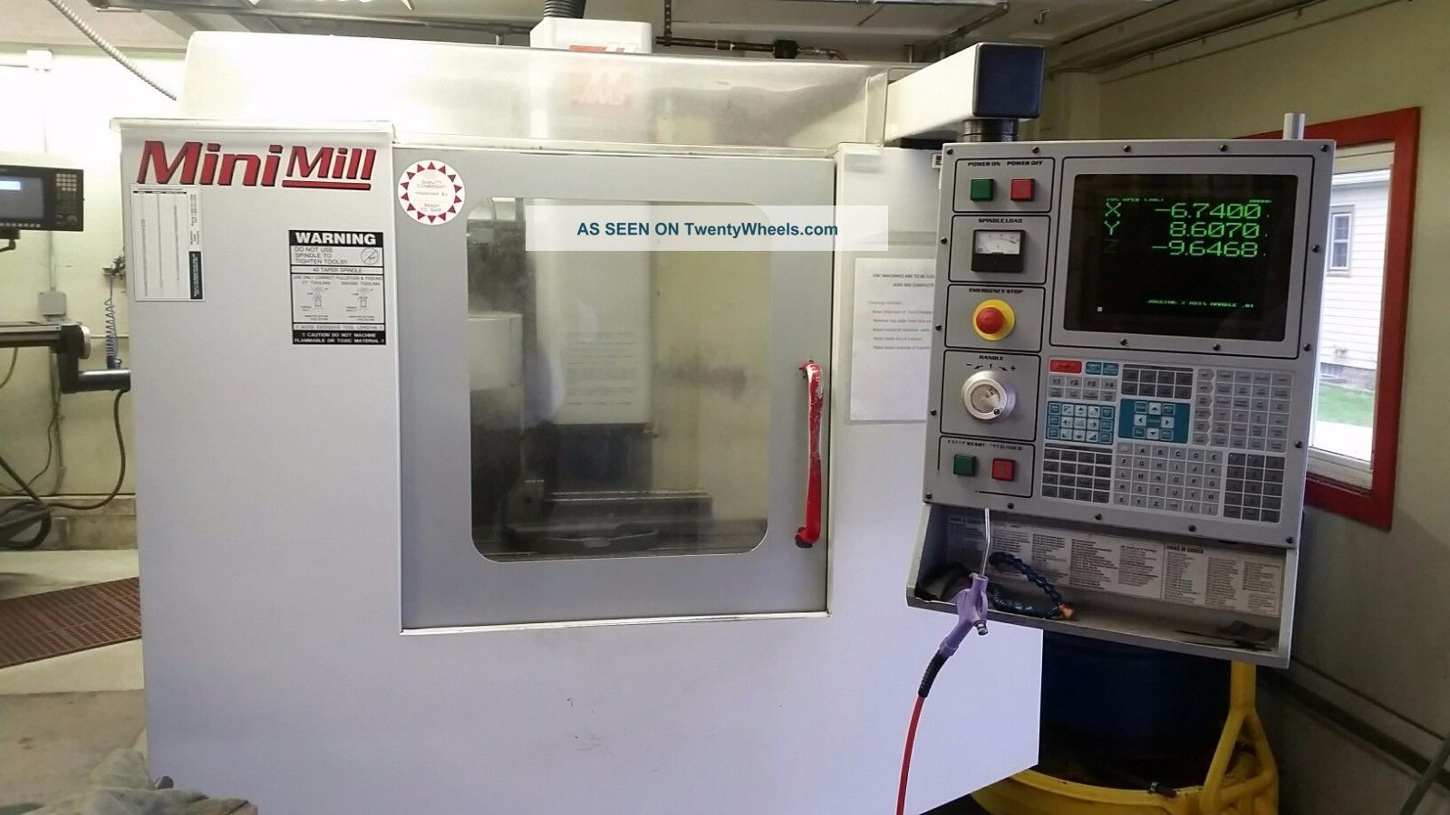 Haas Mini Mill Cnc Vertical Machining Center Ct40 Milling Rigid Tap 00 Milling Machines photo