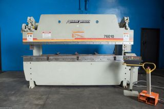 60 Ton X 10 ' Accurpress Model 76010 Cnc Hydraulic Press Brake,  S/n 10382 (2009) photo