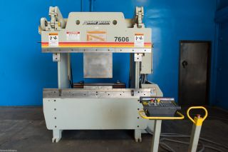 60 Ton X 06 ' Accurpress Model 7606 Cnc Hydraulic Press Brake,  S/n 10383 (2009) photo