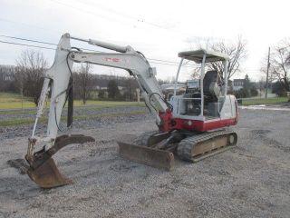 Takeuchi Tb135 Mini Excavator W/ Hydraulic Thumb photo