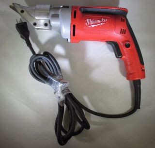 Milwaukee Cutting Shears — 120 Volt,  18 Gauge,  2500 Spm,  6.  8 Amp,  Model 6852 - 20 photo