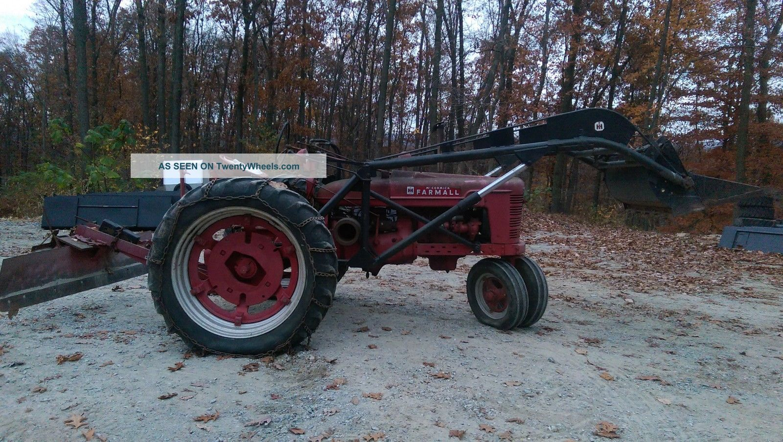 Farmall Tractor With Loader : Farmall h tractor with front end loader rear blade