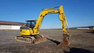 2008 Komatsu Pc78mr - 6 Midi Excavator Hydraulic Coupler Tracked Hoe Plumbed Blade photo