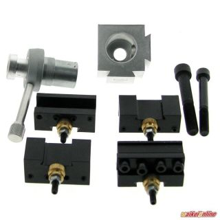 Mini Quick Change Tool Post Holder Kit Set For 7 X10