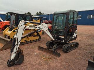 2014 Bobcat 324 Mini Excavator Cab Hydraulic Thumb Rubber Tracks photo