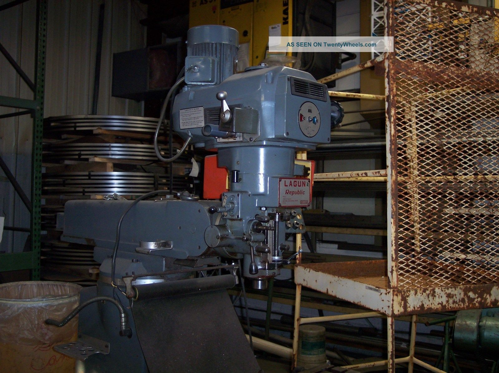 Lagun Ftv - 1 Knee Mill,  Infinate Variable Speed With Pathfinder Digital Readout Milling Machines photo