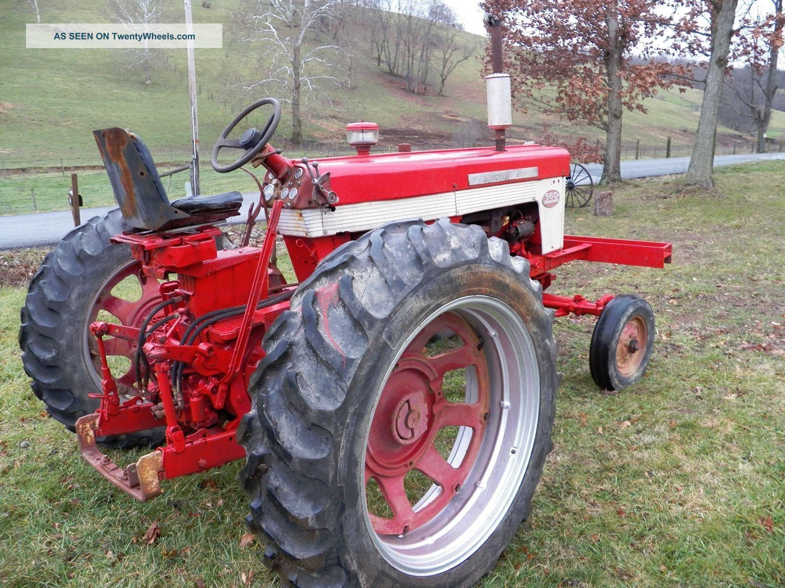 Farmall 560 Tractor : Farmall international tractor gas wide front m