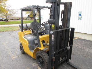 2007 Cat P5000.  5000 Lb Capacity Forklift.  Three Stage Mast.  188 In Lift photo