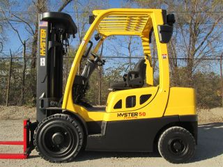 2007 Hyster H50ft Forklift Lift Truck Hilo Fork,  5000lb Cap,  Pneumatic Tire photo