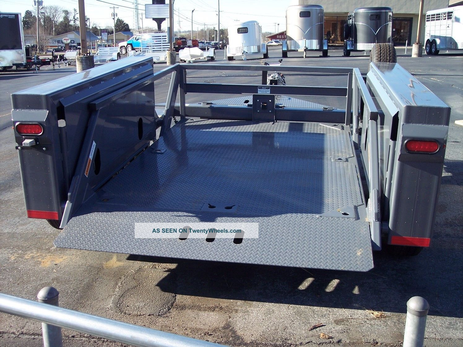 Hydraulic Drop Deck Trailers : Anderson hgl hydraulic drop deck scissor lift
