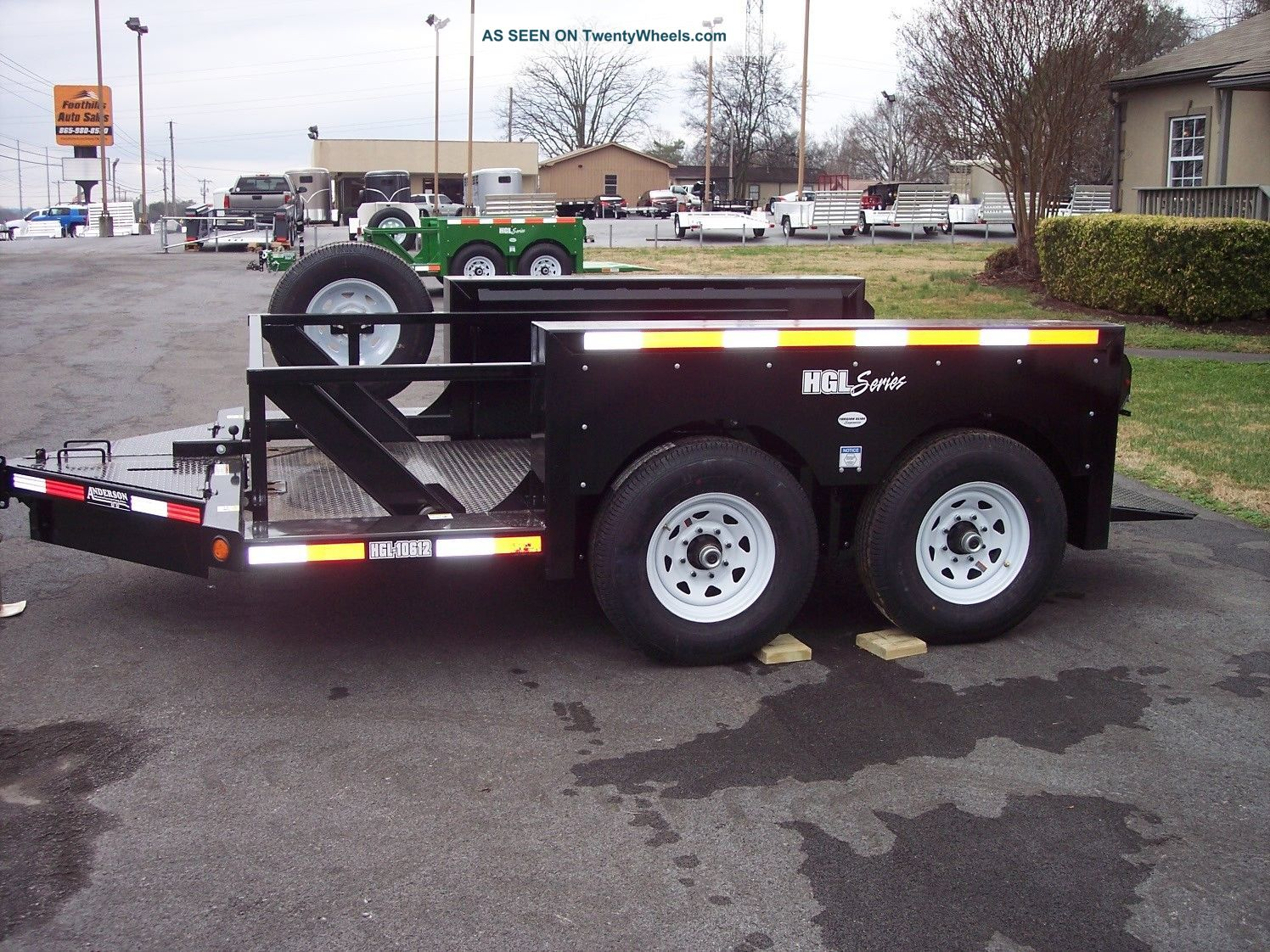 Hydraulic Drop Deck Trailers : Anderson hgl hydraulic drop deck