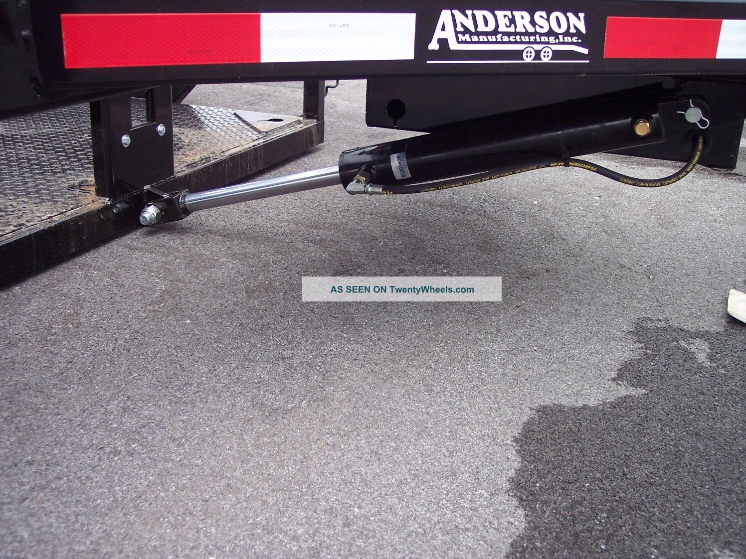 Hydraulic Lowering Trailers : Anderson hgl hydraulic drop deck