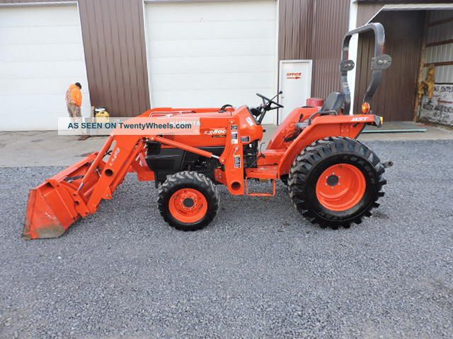 Small Tractors With Pto : Kubota l xtra compact tractor loader point