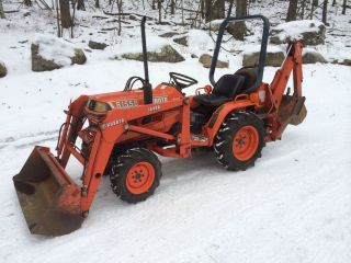 Kubota B1550 Hst 4wd Loader Backhoe 900 Hours 20hp Diesel photo