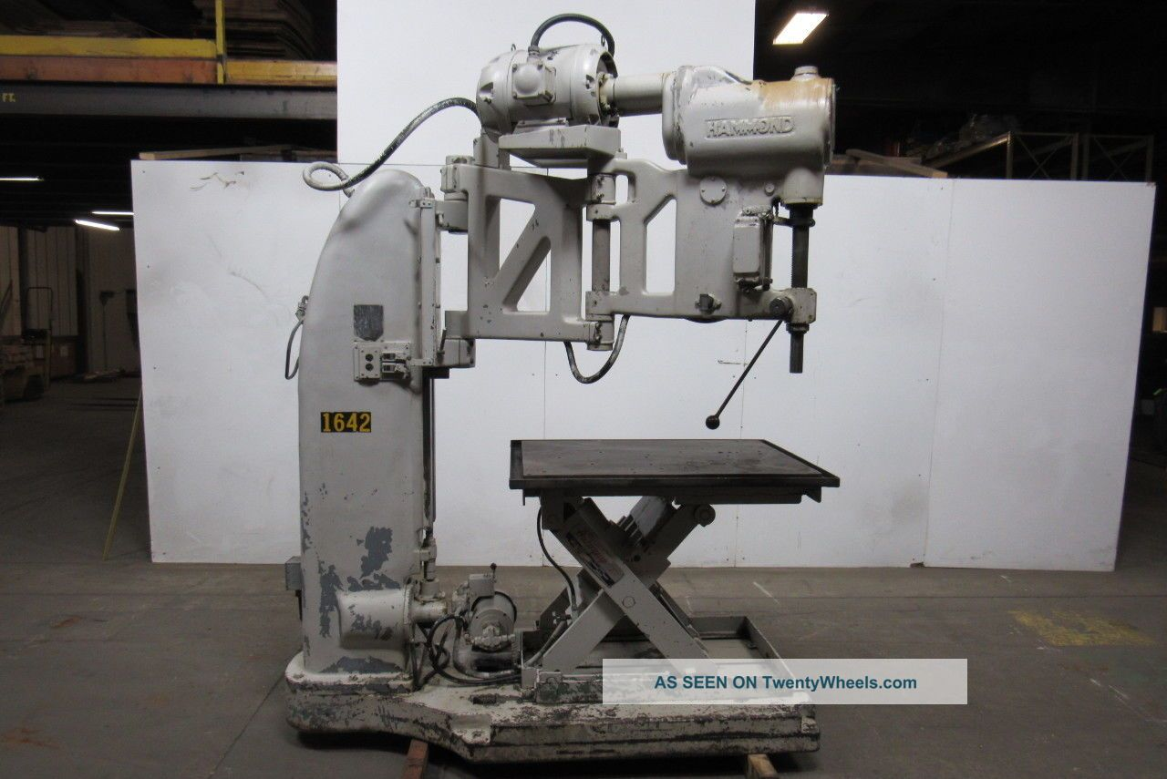 The Foot - Burt Co.  Radial Arm Drill 440v 3 Speed With Heavy Duty Lift Table Drilling & Tapping Machines photo