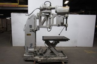The Foot - Burt Co.  Radial Arm Drill 440v 3 Speed With Heavy Duty Lift Table photo