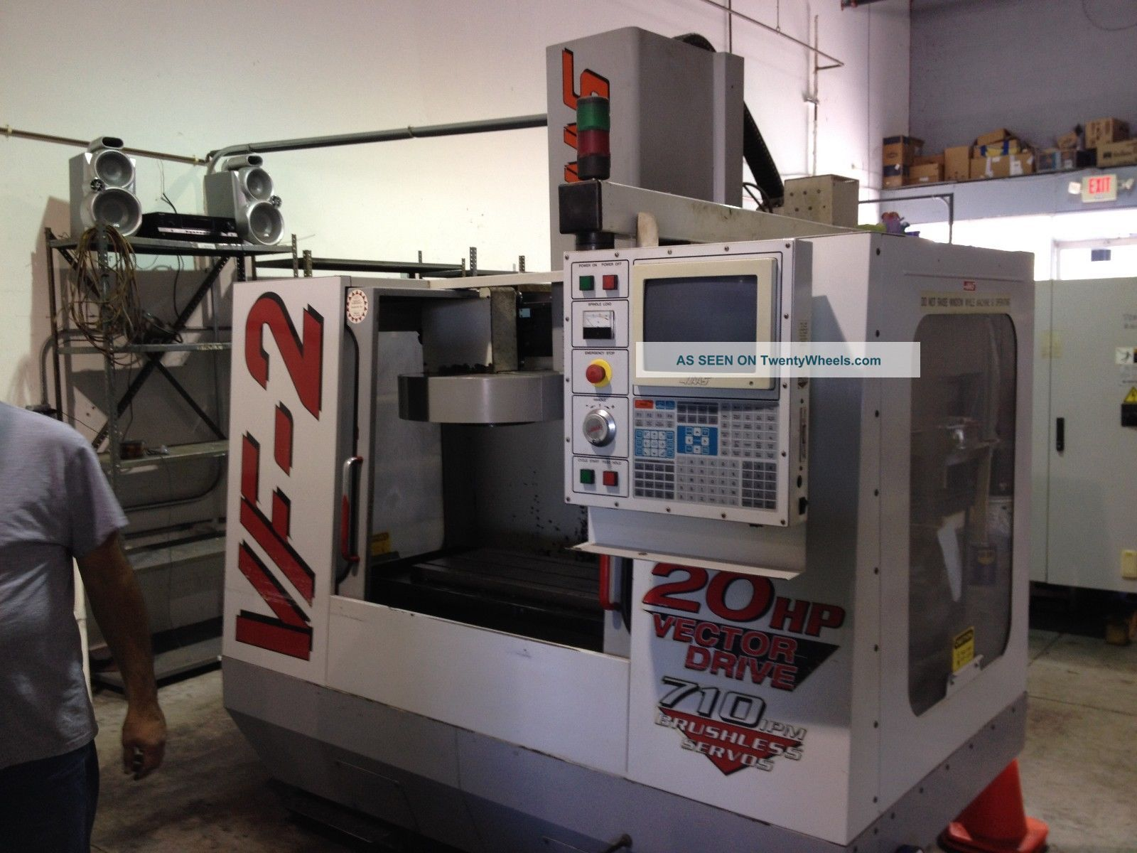 Haas Vf - 2 Cnc Vertical Machining Center Mill 4th Axis Ready 30x16 P - Cool 1999 Milling Machines photo