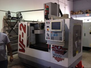 Haas Vf - 2 Cnc Vertical Machining Center Mill 4th Axis Ready 30x16 P - Cool 1999 photo