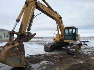 Komatsu Track Hoe Excavator photo