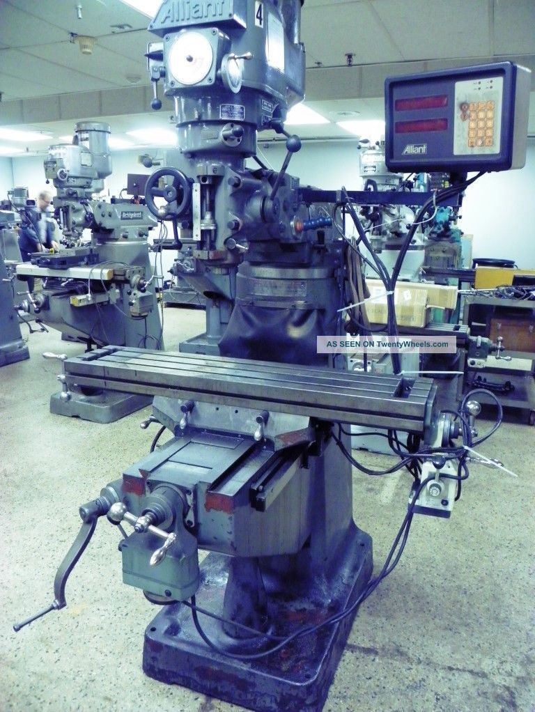 Alliant Model 42vc Vertical Mill Milling Machine With Dro Milling Machines photo