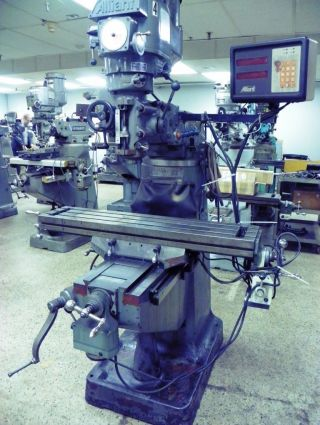 Alliant Model 42vc Vertical Mill Milling Machine With Dro photo