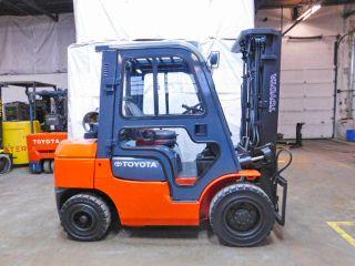 2006 Toyota 7fgu30 6000lb Pneumatic Forklift Lpg Lift Truck Cab With Heat Hi Lo photo