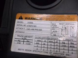2012 Caterpillar 6000 Lb Forklift,  Side Shift,  Triple Mast 4 Ways photo