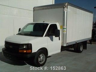 2014 Chevrolet Express 3500 Box Truck 6.  0l Load Ramp photo