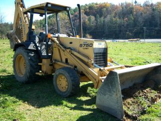 1993 Ford 575d Turbo Backhoe 4wd photo