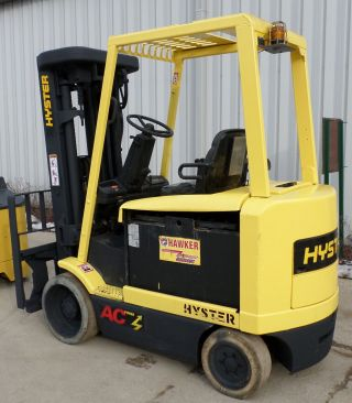 Hyster E60z - 33 (2005) 6000lbs Capacity Great 4 Wheel Electric Forklift photo