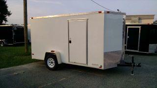 6x12 Enclosed Trailer Cargo V - Nose Utility Motorcycle Lawn 10 Landcape photo