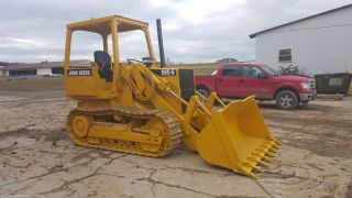 1992 John Deere 555g Crawler Track Loader Diesel Tractor Hydraulic Construction photo