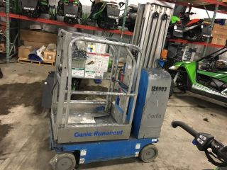 2007 Genie Gr - 20,  Electric Scissor Lift,  178 Hr 20ft Personnel Lift,  Jgl Boom 12 photo