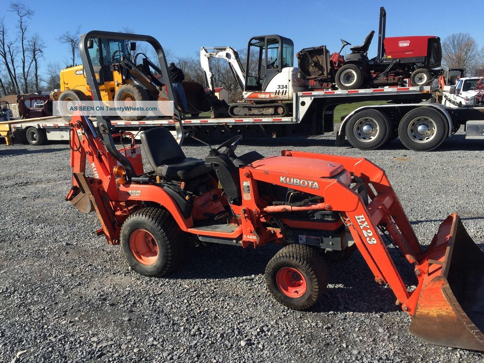 Tractor Loader Backhoe : Kubota bx compact tractor loader backhoe