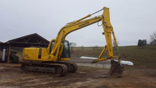1999 Komatsu Pc120 - 6 Hydraulic Excavator Tracked Hoe Thumb Cab Diesel Engine photo