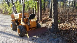Case 25+4xp Articulating Trencher 4x4 With Plow photo