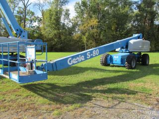 2008 ' Genie S - 80 Boom Lift,  Diesel,  Manlift,  4x4 Drive,  Jlg 80 800s Aerial S80 photo